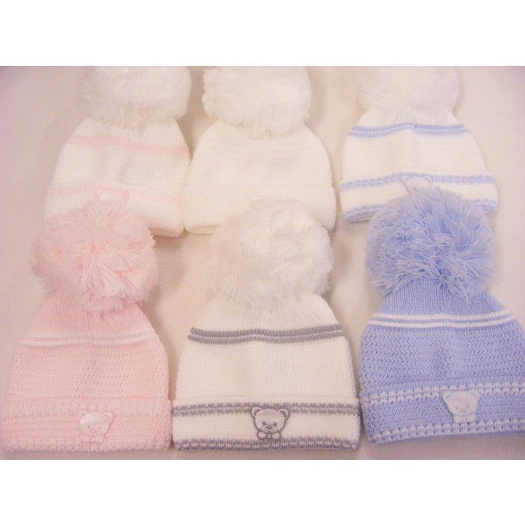 05feaafb08d First Size Kinder Teddy Motif Hat All Colours